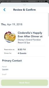 Restaurant Reservation 5