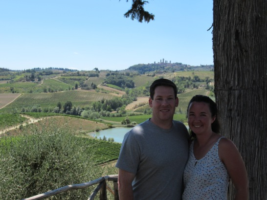 View from Lunch at Fioroni Family Winery