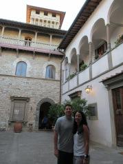 Inside the castle courtyard